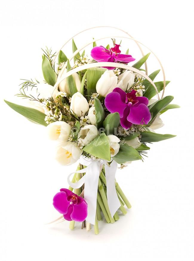 cele mai frumoase buchete de flori lalele albe