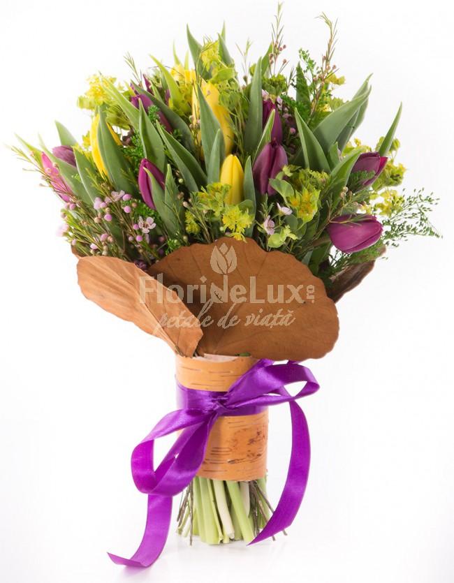 cele mai frumoase buchete de flori lalele