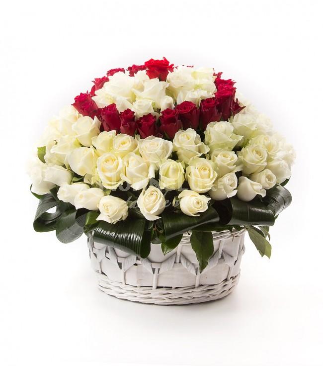 cele mai frumoase cosuri flori - locul 1
