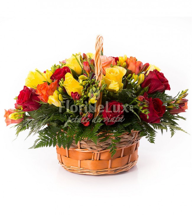 cele mai frumoase cosuri flori - locul 10