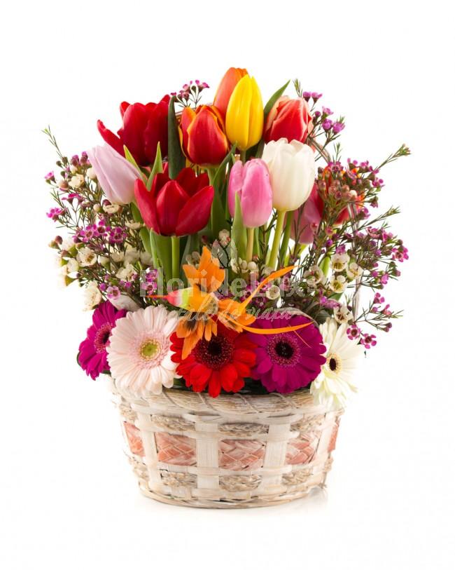 cele mai frumoase cosuri flori - locul 5