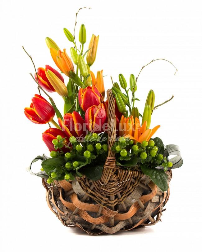 cele mai frumoase cosuri flori - locul 6