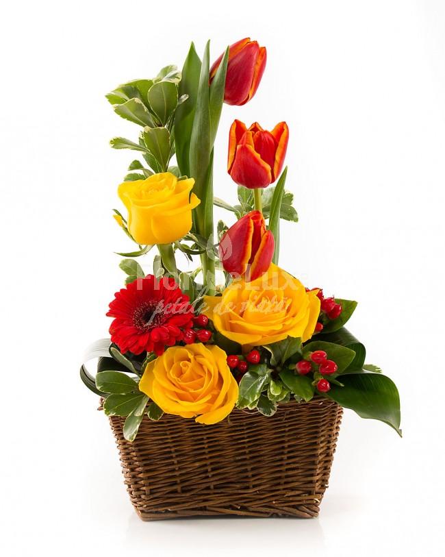 cele mai frumoase cosuri flori - locul 7