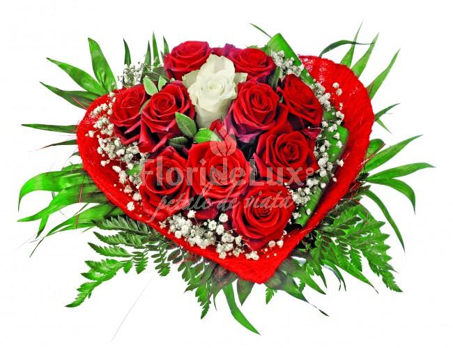 buchete de flori - inima