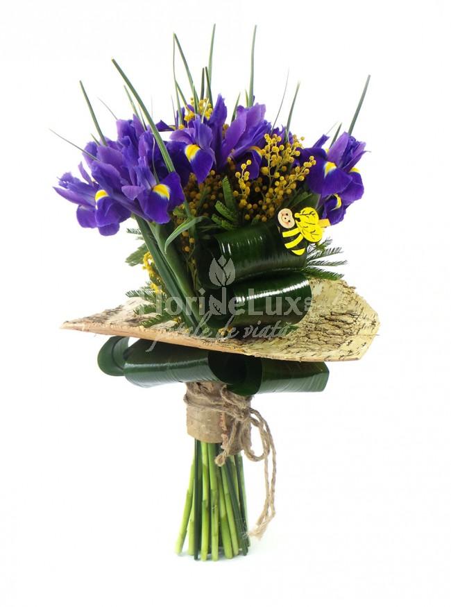 buchete de flori - irisi albastri