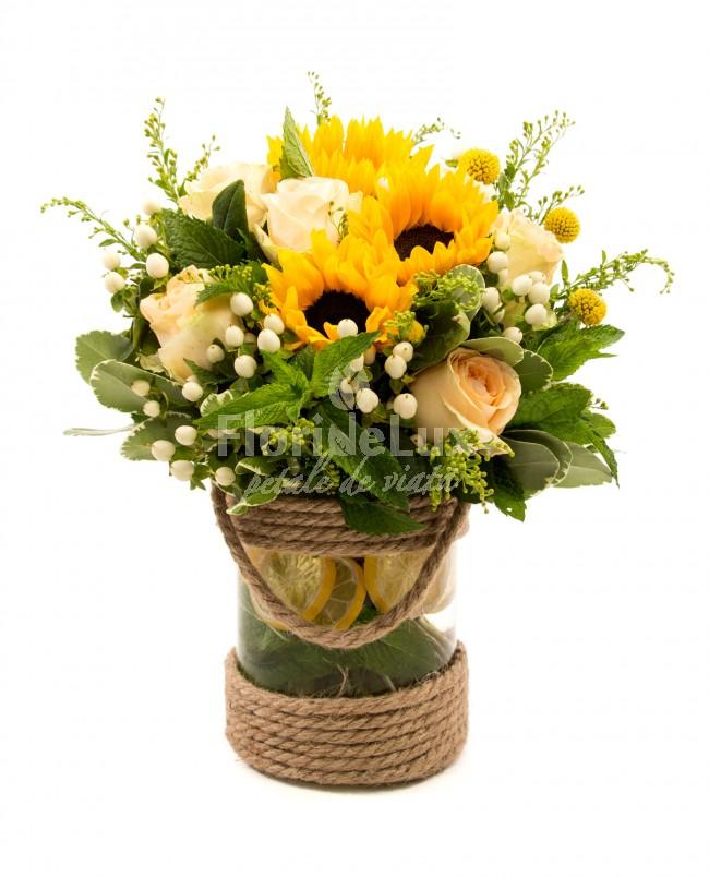 buchete floarea-soarelui, flori online