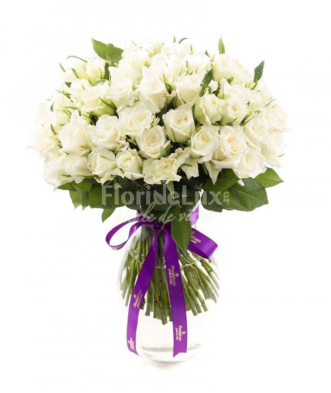 buchete de trandafiri albi locul-1