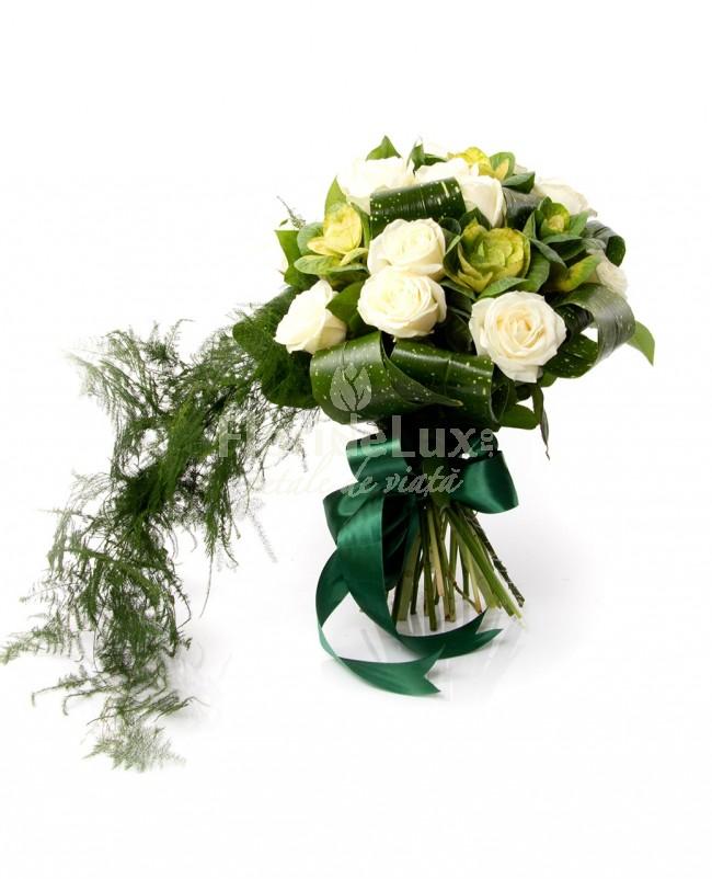 Buchete de trandafiri albi locul-3