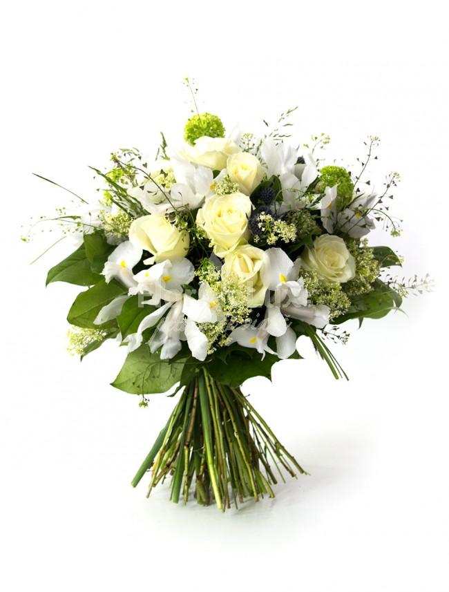 Buchete de trandafiri albi locul-5