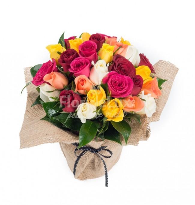 buchete trandafiri multicolori 6