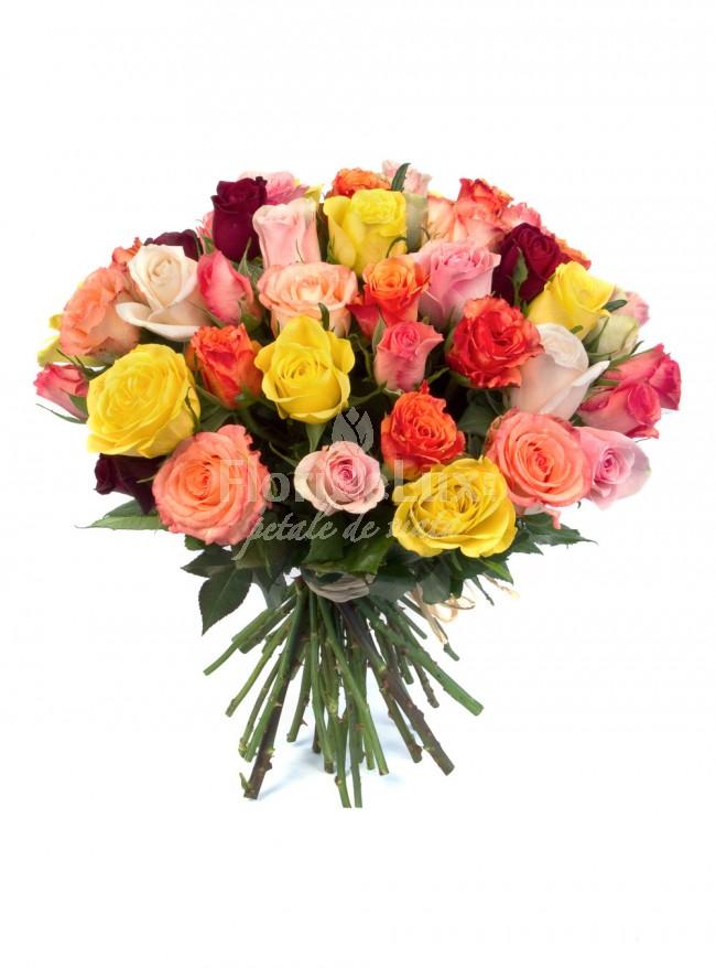 buchete trandafiri multicolori 4