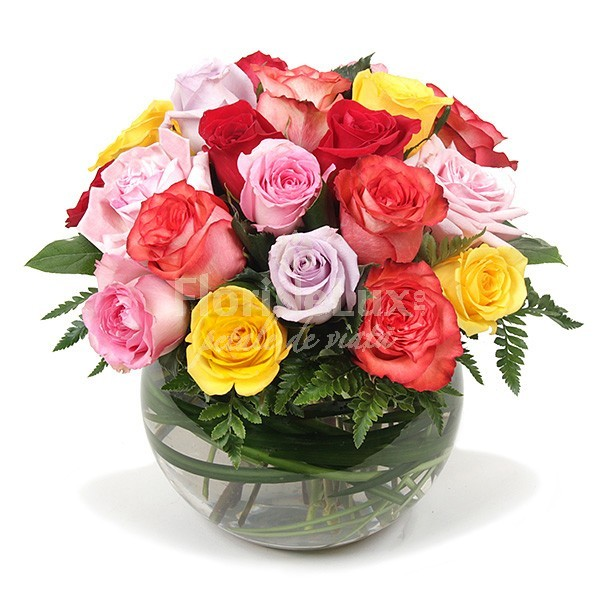 buchete trandafiri multicolori 14