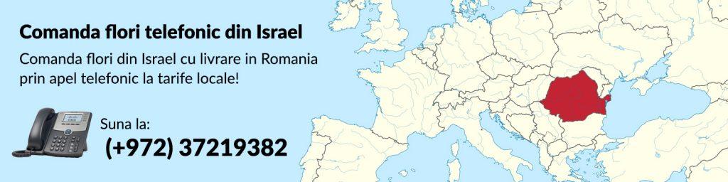 comanda flori in Romania din Israel