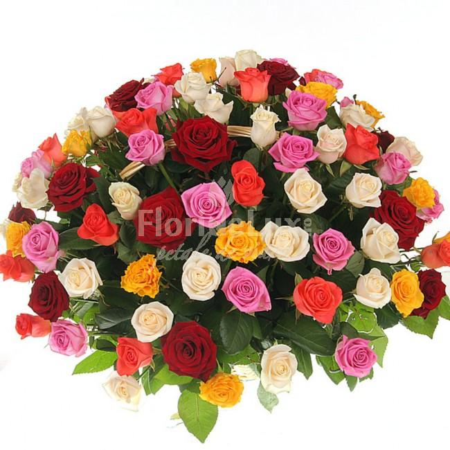 buchete trandafiri multicolori 13