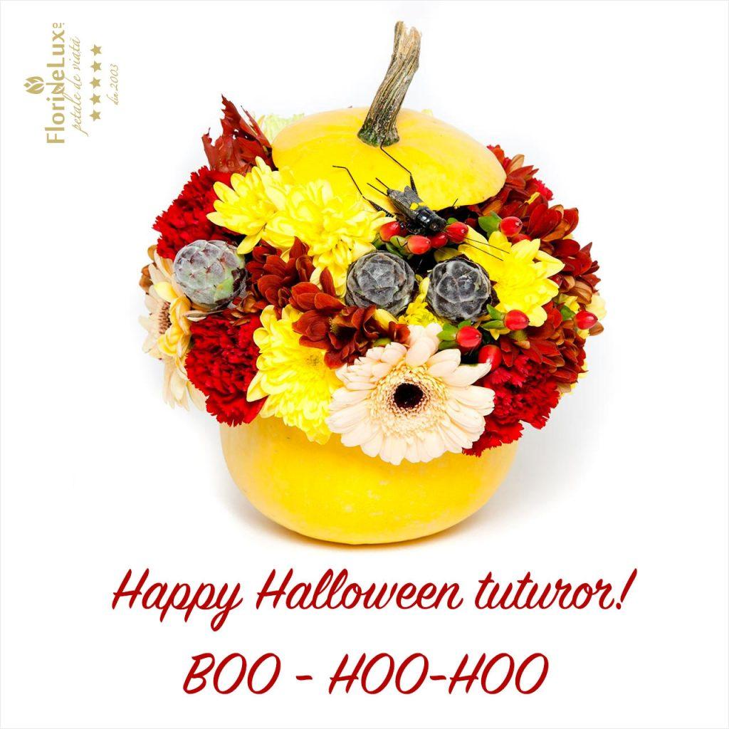 flori de halloween, felicitari cu flori de halloween