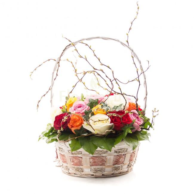 buchete trandafiri multicolori 12