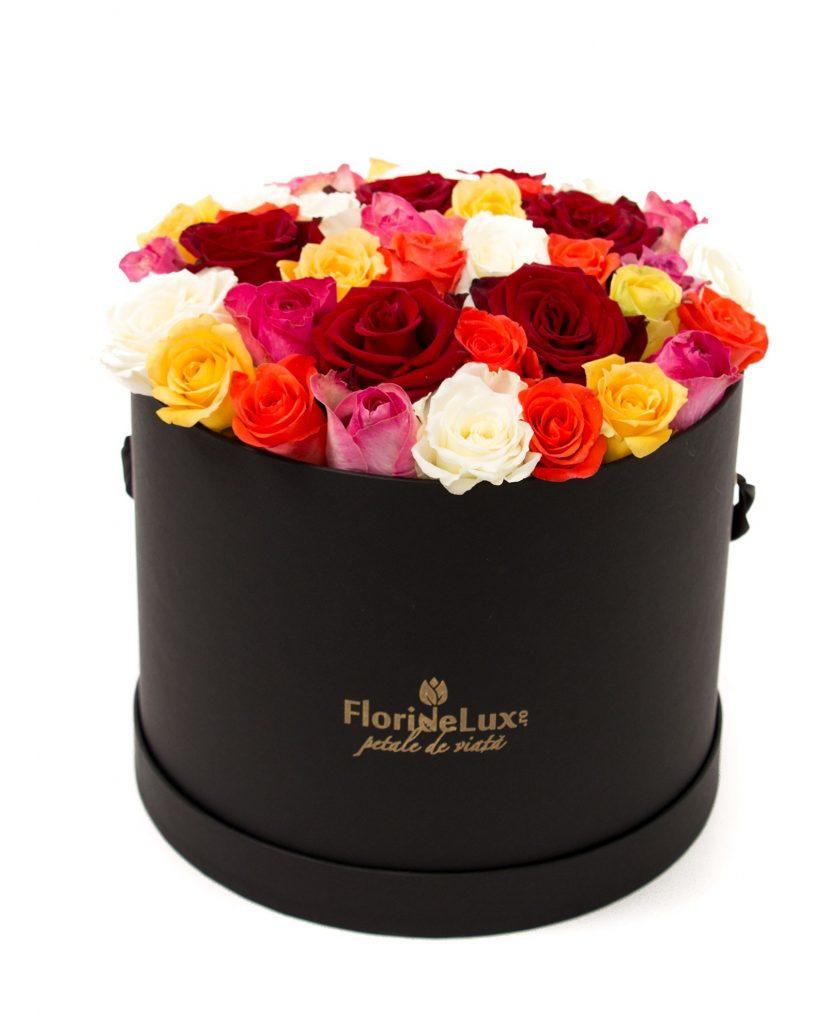buchete trandafiri multicolori 1