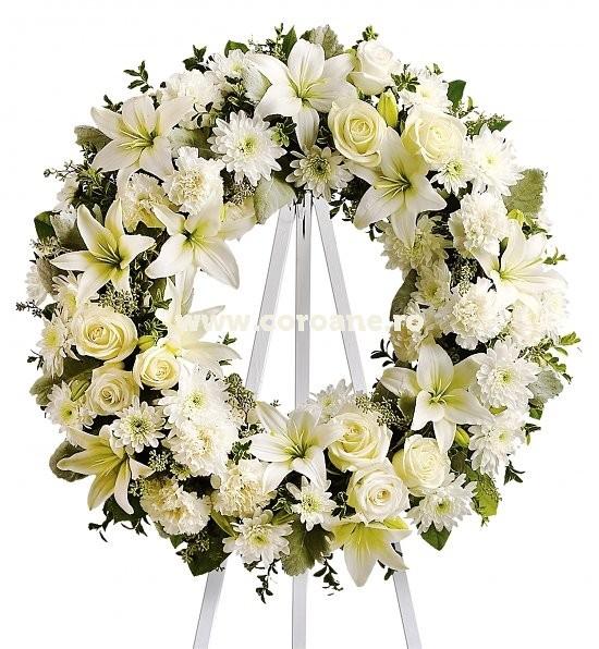Pret coroana funerara