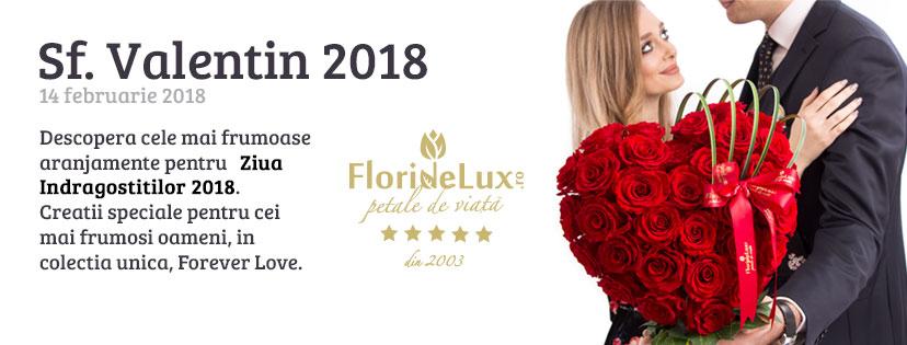 Flori pentru indragostiti 2018, Sfantul Valentin 2018, Forever Love 2018