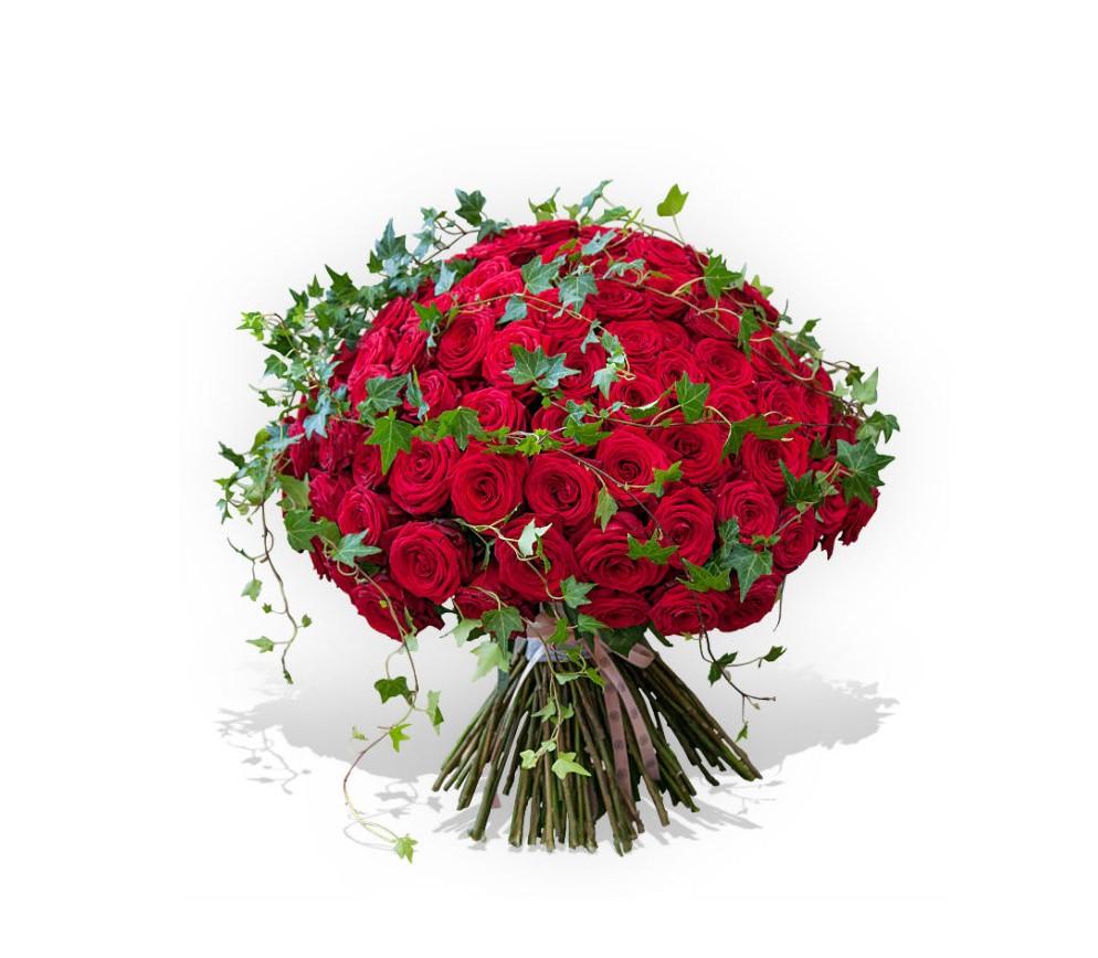 *Mesaje de ziua îndrăgostiților pentru soție, Buchet 77 trandafiri roșii