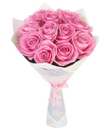 Idei pentru Valentine's Day Ce cadou îi poți cumpăra persoanei iubite, Buchet flori 13 trandafiri roz, doar 197,99 RON!