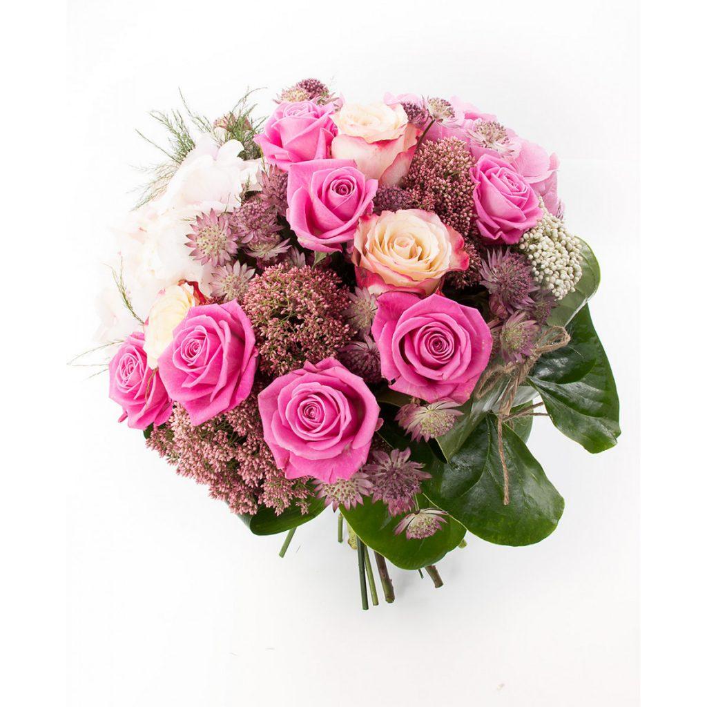 Flori pentru a transmite gânduri optimiste, Buchet 2 nuanțe trandafiri roz, doar 339,99 RON!