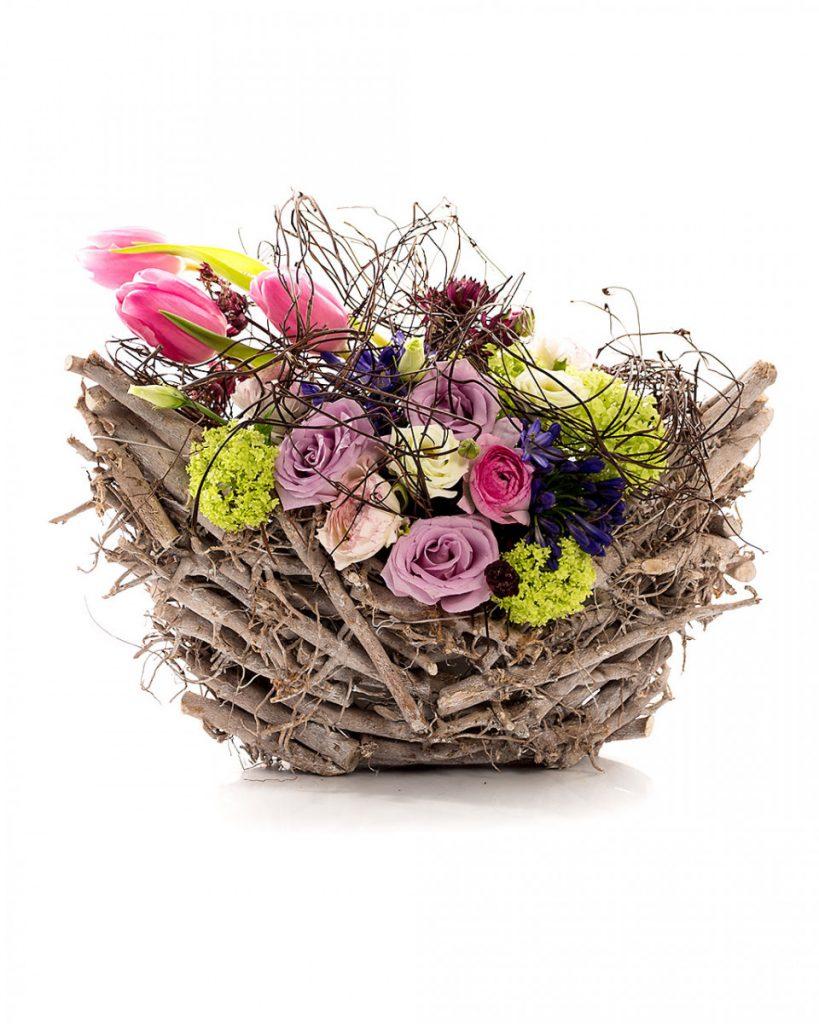 Împletitură primăvaratică cu flori pastel, doar 276,99 RON
