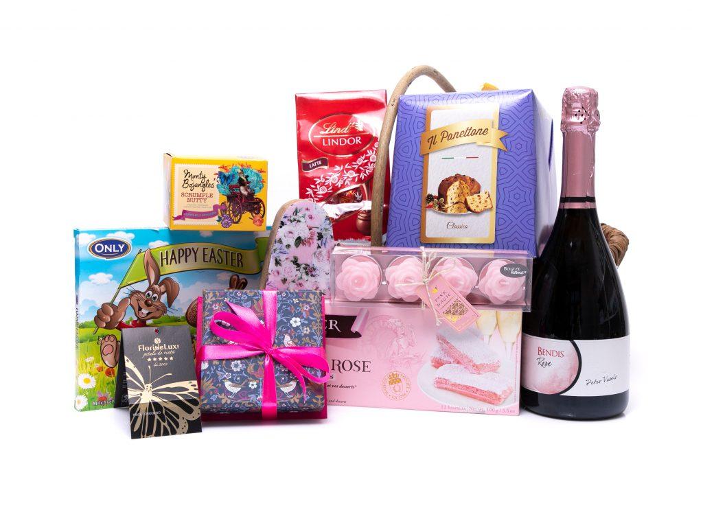 Coșuri cadou de Paște, Cadouri Paște coș cu bunătăți, doar 329 RON!