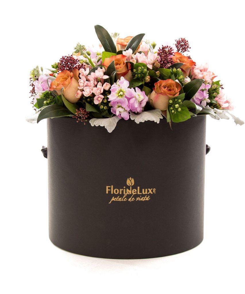 Cutie cu flori capuccino mix, doar 514,99 RON