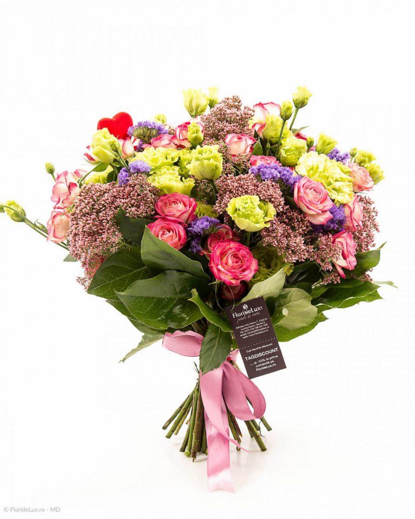 Florărie Pitești, Buchet colorat și romantic, doar 239,99 RON