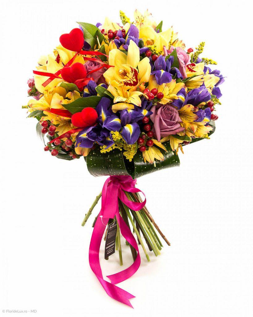 Florărie Pitești, Buchet multicolor senzațional, doar 515,99 RON