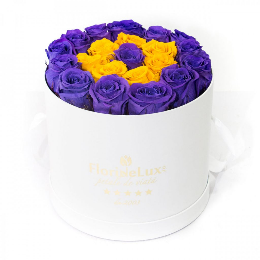 Trandafiri mov criogenați, doar 1.384,99 RON!