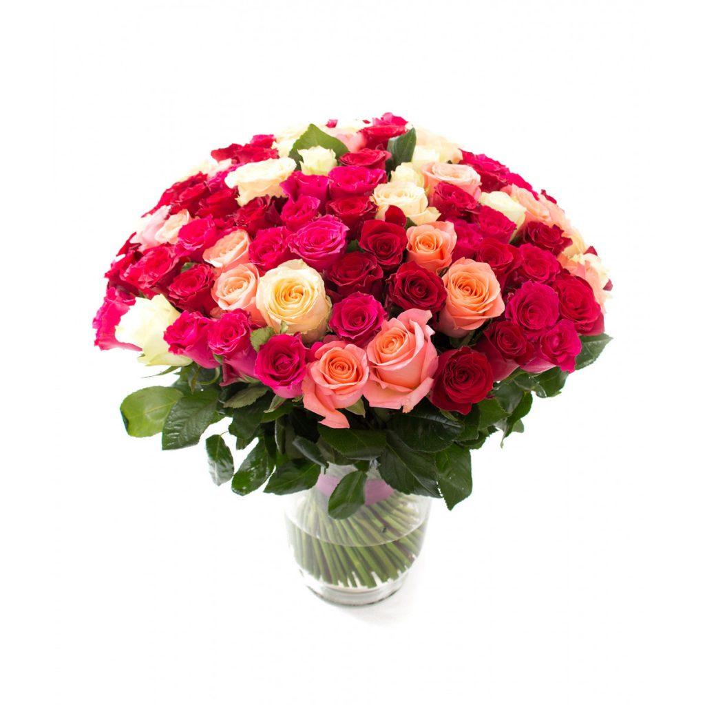 Florarie Braila, 101 trandafiri nuante de roz, doar 1.209,99 RON