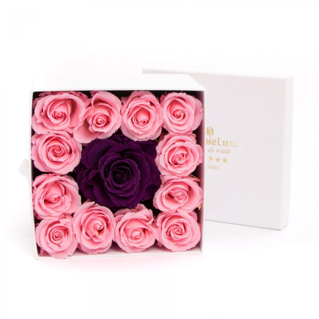 Cutie trandafiri criogenați, doar 859,99 RON!