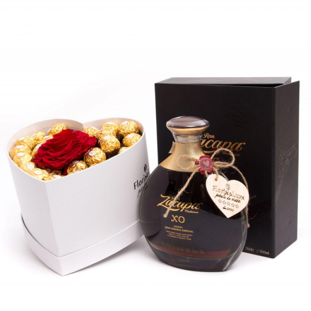 Inima Ferrero Rocher, trandafir criogenat, bautura fina, doar 999,99 RON